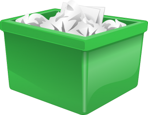 You can use green plastic bins to pack all your documents and paperwork.