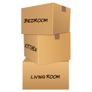 Unlike plastic bins, cardboard boxes can safely be stacked on top of each other.