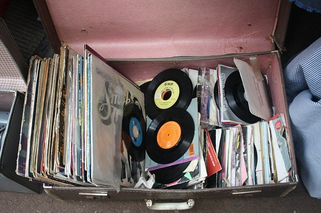 Vinyls in a suitcase - be careful how you pack boxes for storage.