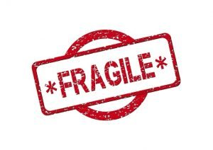 """Label that says """"fragile"""" - you should always put this label when you pack your fragile items"""