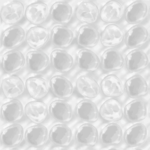 Plastic wrap with bubbles