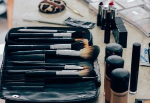 Makeup in essentials moving box
