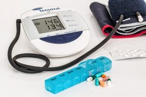A medical kit for hypertension.