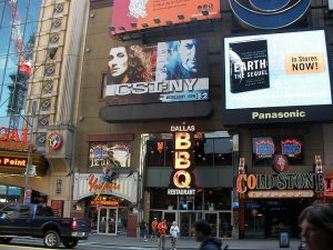 Stores at Times square - one of the most attractive location for starting a business in NYC