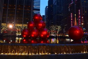 Christmas decorations to see after you move to New York in fall.