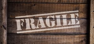 a crate that says fragile