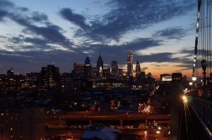 View of Philadelphia's skyline.