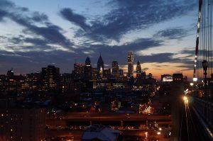 View of Philadelphia's skyline.