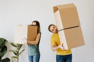 A couple that was not labeling boxes for a move and used low-quality supplies.