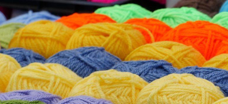 Balls of yarn.