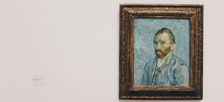 A painting of Vincent van Gogh.