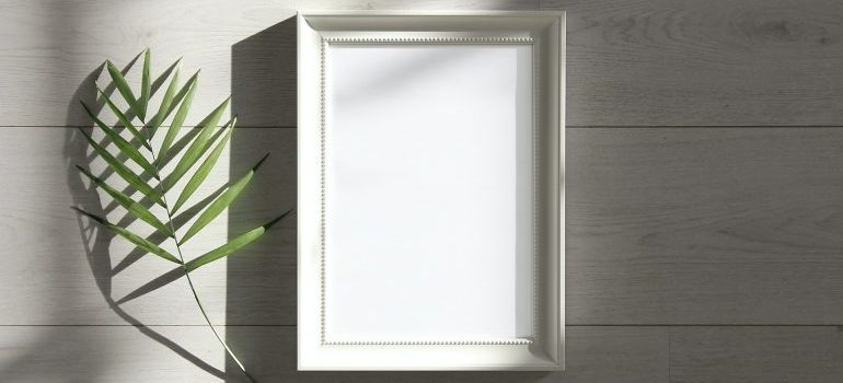 A frame on a wall.