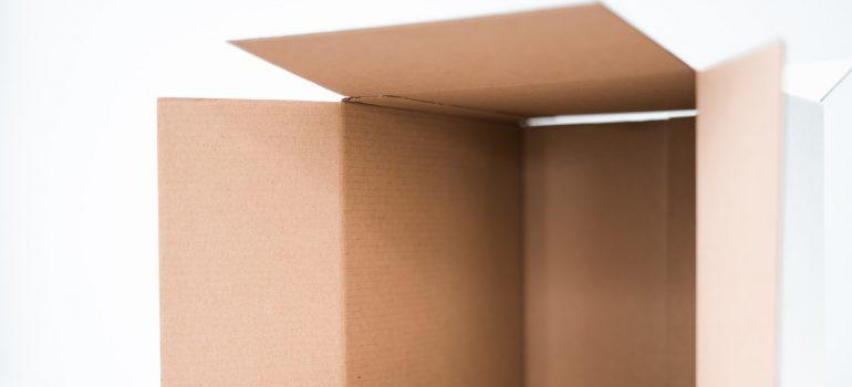 A cardboard box.