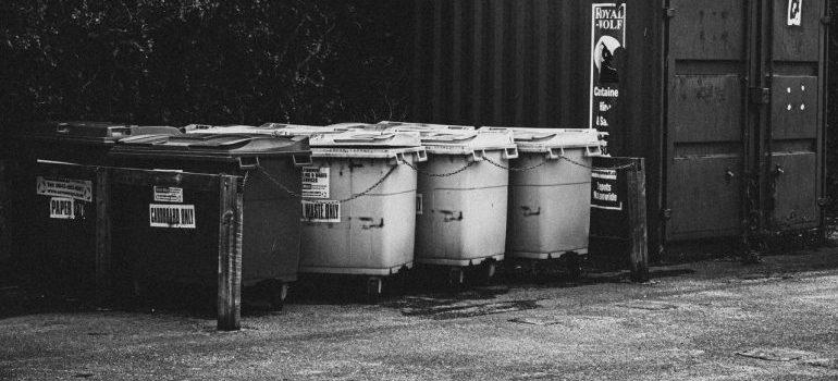 Storage bins.