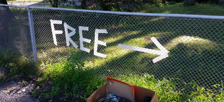 A ''Free'' sign.