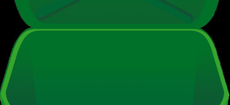 A green bin.