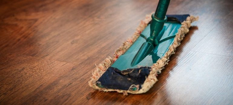 A mop you will use to clean your home after moving out.