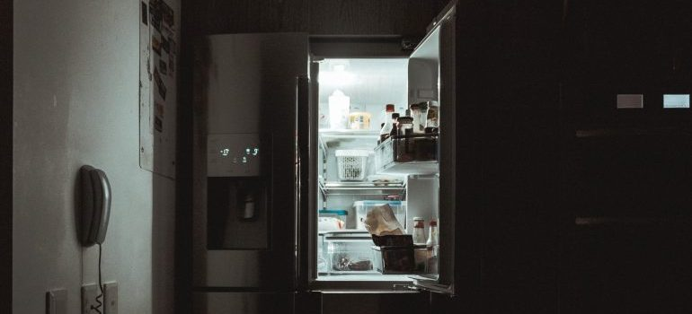 An open fridge.