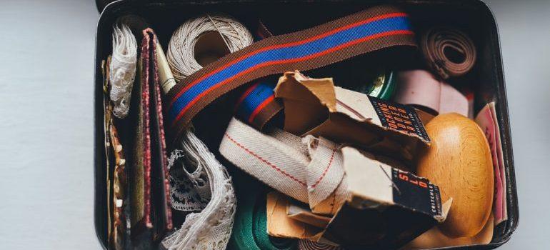 A box of supplies.