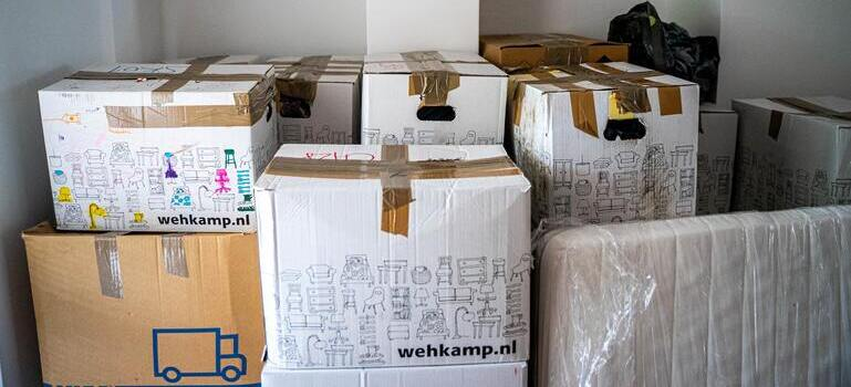Renting moving supplies for your DIY move such as dozen of moving boxes.