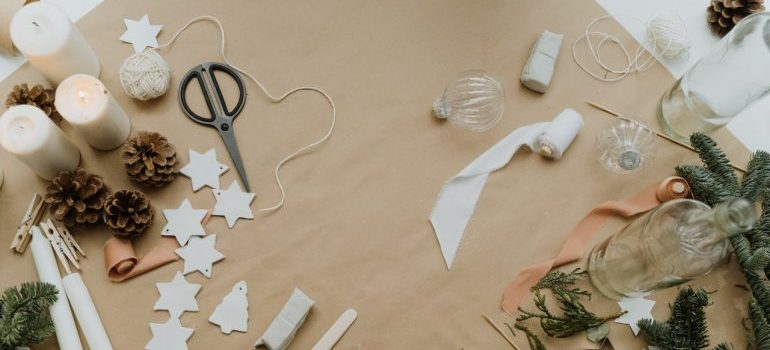 Materials for making eco-friendly Christmas decorations