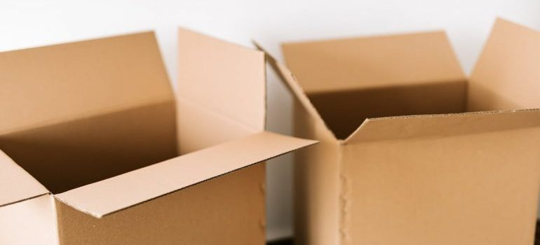empty brown cardboard moving boxes