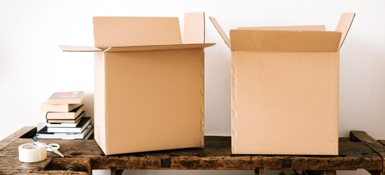 Boxes you can use for small office moving