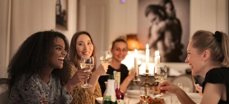 dinner party to help your neighbors moving out