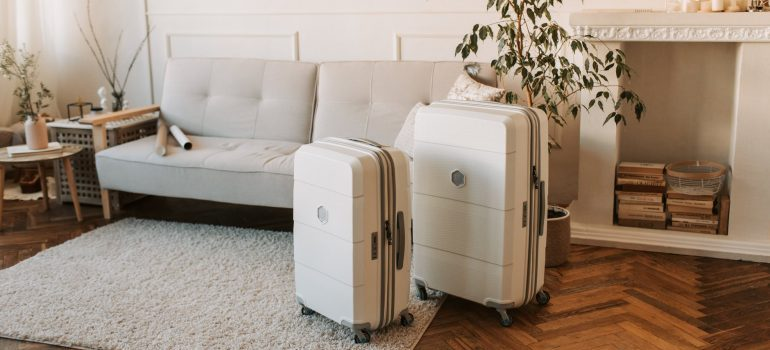 Suitcases in the living room