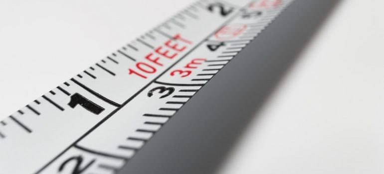 A tape measure.