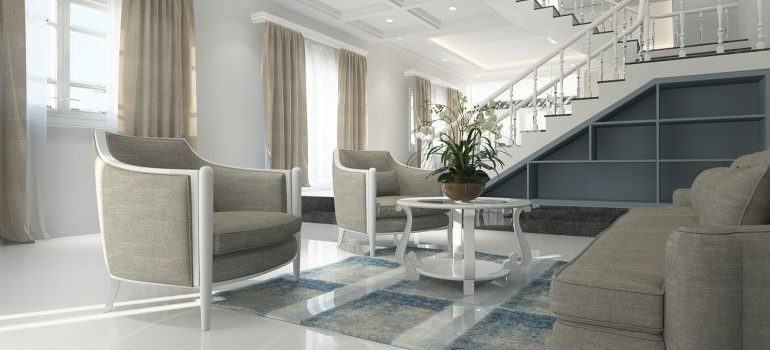 living room is ready for staging your home for sale